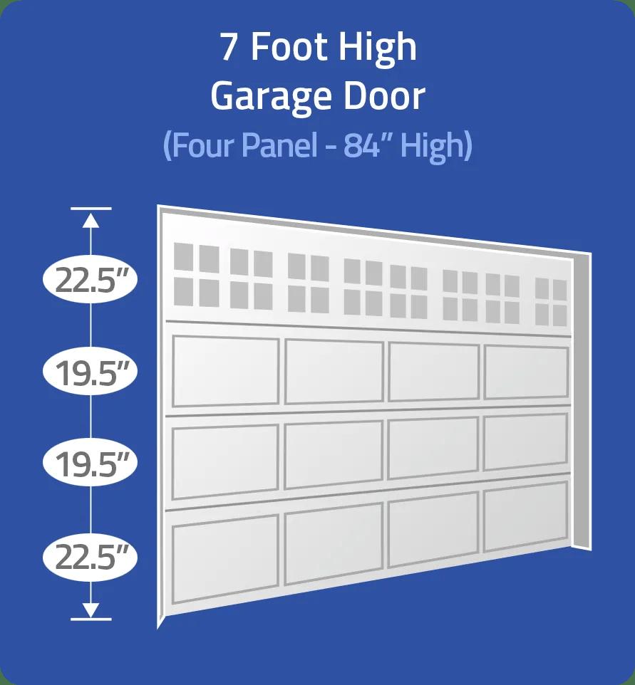 Select 7 foot door with unequal panels