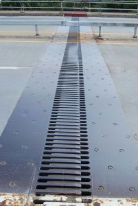Expansion joint on a bridge