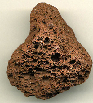Porosity displayed in a rock sample