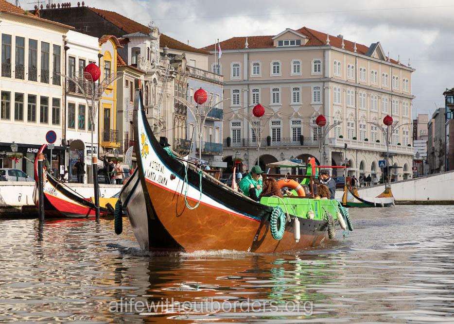 The pretty little town of Aveiro, Portugal