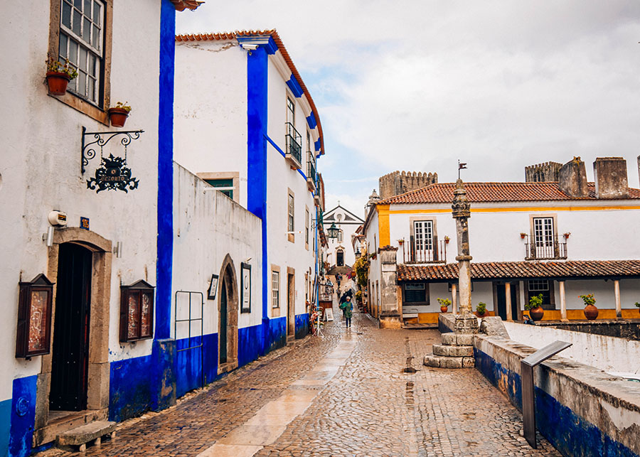 Obidos town center - one of the most beautiful villages in Portuga