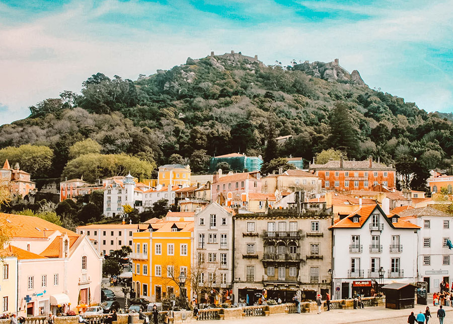 The colourful town of Sintra