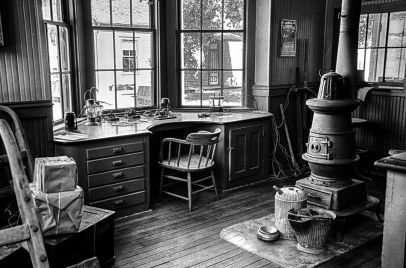 The telegraph office at the Old Cowtown Museum in Wichita Kansas