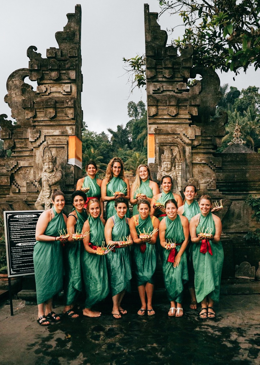 LimitLes in Bali Water Temple blessing