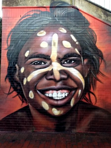Streetart Oldenburg: Portrait eines Aborigines
