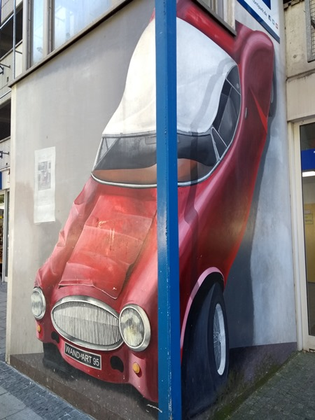 Streetart Oldenburg, Graffiti, Auto, Lappan
