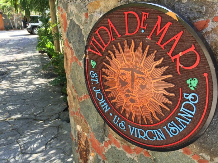 Vida de Mar entrance on St. John