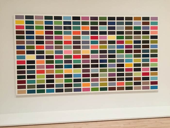 Gerard Richters' 256 colors at SFMOMA.