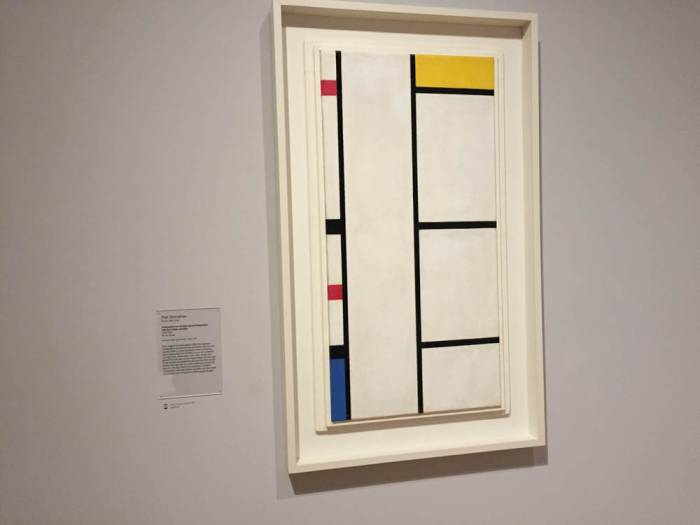 Piet Mondrian Composition with Red, Yellow, and Blue at SFMOMA