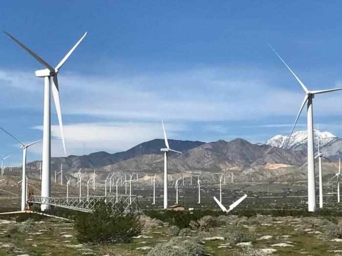 Fallen windmills at San Gorgonio Pass Wind Park