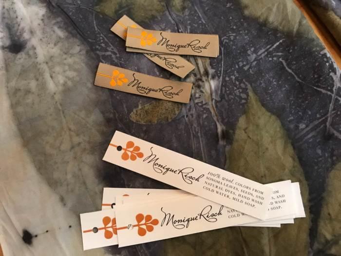 Monique Risch botanical printing labels