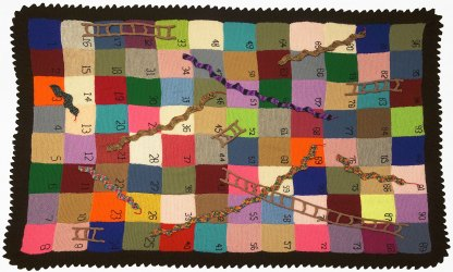 Snakes and ladders blanket knitting pattern
