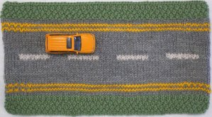 Road straight yellow lines
