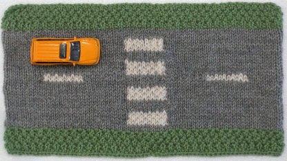 Road straight zebra crossing