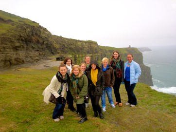 Some of the ladies & I at the Cliffs of Moher