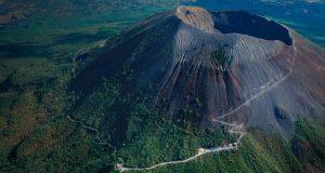 MtVesuvius_EN-US189369065, arial shot, crater, top, view, Trekking to the summit of Mt. Vesuvius! The only live volcano on mainland Europe!, pompeii, herculaeum, italy, travel, hike, explore, adventure, how to get to vesuvius, how to climb vesuvius, from above,