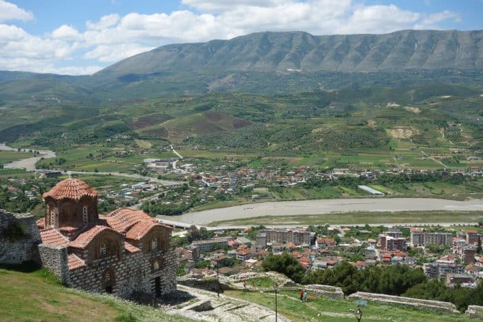 "Berat: The charming UNESCO Ottoman town that sealed our love affair with Albania!, bogove, off the beaten track, off the beaten path, balkans, is albania safe, places to see in albania, gude to berat, things to do, Kisha Shen Triadha (Holy Trinity Church) and the ""Evner/ Never"" sign, history, Bulevardi Republika, Mangalem Quarter and the grand Mosques, Berat fortress/ Kalaja, Gorcia Quarter"