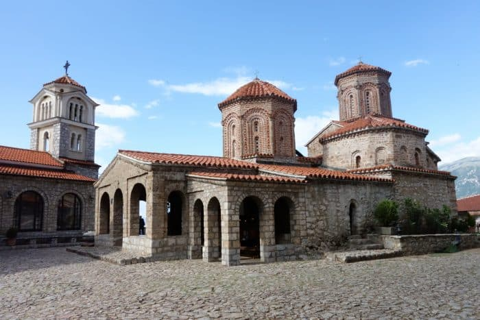 Taking the 2.5hr ferry across Lake Ohrid to the stunning St. Naum Monastery, Macedonia, svet naum, things to do in ohrid, albania, border, passport, adventure, explore, beautiful, balkans, best places to see, things to see, trips from ohrid, bay of the bones, church, paintings, frescos, ferry trip, water, swim, beach, crossing the albanian macedonian border on foot, off the beaten track, off the beaten path
