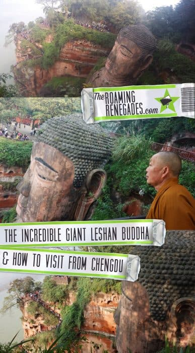 The impressive sandstone carved Leshan Giant Buddha, the largest pre modern Buddha in the world. Here's our guide to visiting the Leshan Giant Buddha from Chengdu including Chengdu to Leshan transport guide, cost and entrance fee for the Leshan giant buddha scenic area. Here's how to get to the Leshan Buddha from Chengdu on the train and bus/ public transport.