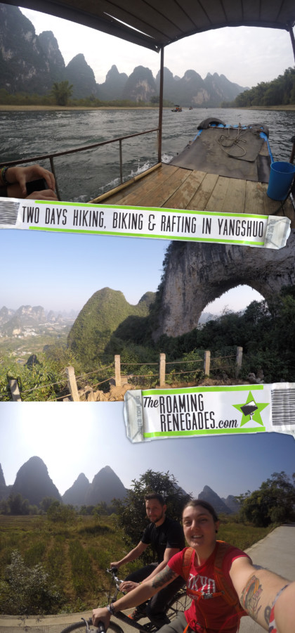 Two days exploring the peaks, rivers and farms of wonderful Xingping & Yangshuo via bikes, boats and boots!