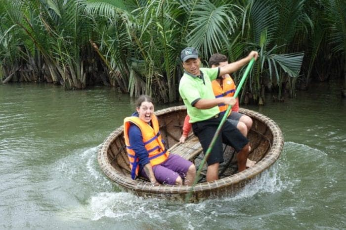 Hoi An Tour, Discovering the real Vietnam with Jack Tran Eco Tours, Hoi An, fishermen, rice paddy, rice fields, buffalo, meet real people, boat, coracle, tour, Vietnam, culture, South East Asia, Hoi an tours, tours Hoi An,