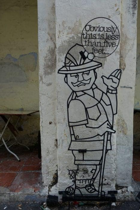 graffiti, Ernest Zacharevic, The amazing, creative and interactive street art of Georgetown, Penang, Malaysia, motorbike, basketball, kids on bike, rower man, chinese houses, art, wire, culture, history, map, where to see the street art of Penang, where to go in Penang, things to do in Penang, things to see, Armenia street, Street art Penang, guide, locations