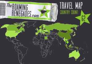 The Roaming Renegades travel map