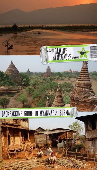 9 tips for backpacking Myanmar! Our comprehensive Myanmar travel guide > https://theroamingrenegades.com/2018/08/backpacking-myanmar-travel-guide.html | #Myanmar #Burma #Backpacking #SouthEastAsia #Offthebeatenpath #adventure #localtravel