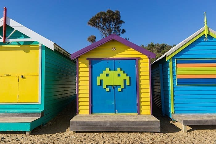 Melbourne 5 day itinerary: best places to visit in Melbourne. Bathing boxes on Brighton beach.