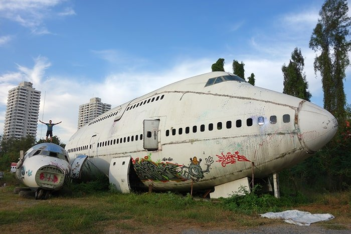 The Best Adventurous Things To Do in Thailand For Backpackers, Airplane graveyard, Aeroplane graveyard,