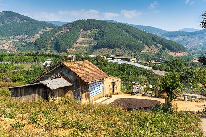 Rural countryside in the central highlands of Vietnam. 3 weeks in Vietnam, Vietnam itinerary: 3 weeks, 3 week Vietnam itinerary