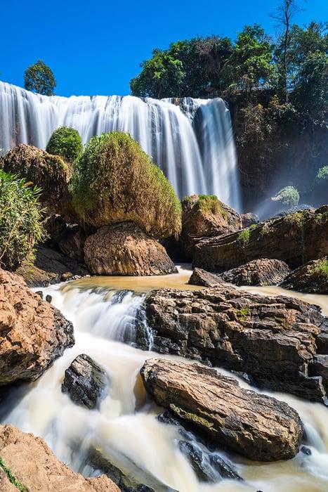 Elephant Waterfall slow shutter speed photograph. 3 weeks in Vietnam, Vietnam itinerary: 3 weeks, 3 week Vietnam itinerary