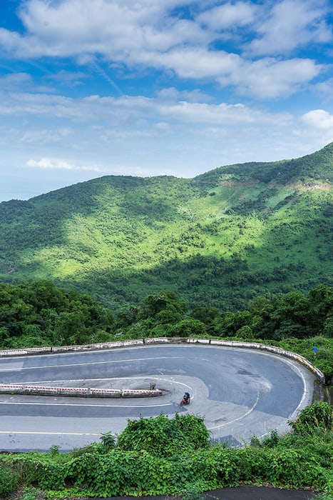 A switchback/ Hairpin bend on Hai Van Pass. 3 weeks in Vietnam, Vietnam itinerary: 3 weeks, 3 week Vietnam itinerary