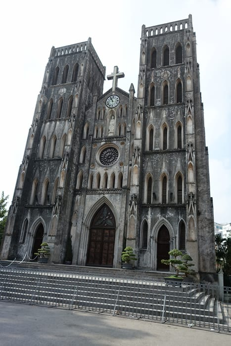 Cathedral in Hanoi. 3 weeks in Vietnam, Vietnam itinerary: 3 weeks, 3 week Vietnam itinerary