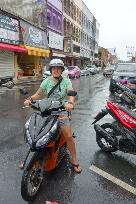 Riding a scooter in Phuket, (Phuket backpacking guide, budget Phuket, Phuket backpacker, Backpackers guide to Phuket, Phuket backpacker hostel, Best area to stay in Phuket, backpacking Thailand)