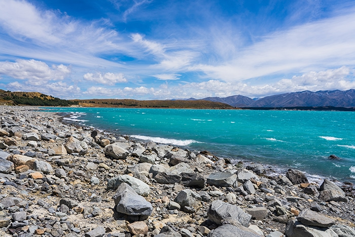 The glacial lakes of Lake Tekapo in The Southern Alps (day trips from Christchurch, Christchurch day trips, places to visit near Christchurch, things to do in Canterbury New Zealand, visit Christchurch)