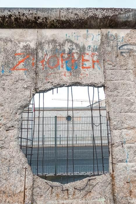 A hole in the Berlin Wall (2 days in Berlin, Things to do in Berlin, 2 days in Berlin itinerary, Berlin 2 days itinerary, Berlin in two days, 48 hours in Berlin itinerary, What to do in Berlin in 2 days, Berlin 2 days, Things to do in Berlin, backpacking Berlin, cheap, budget Berlin, Germany)