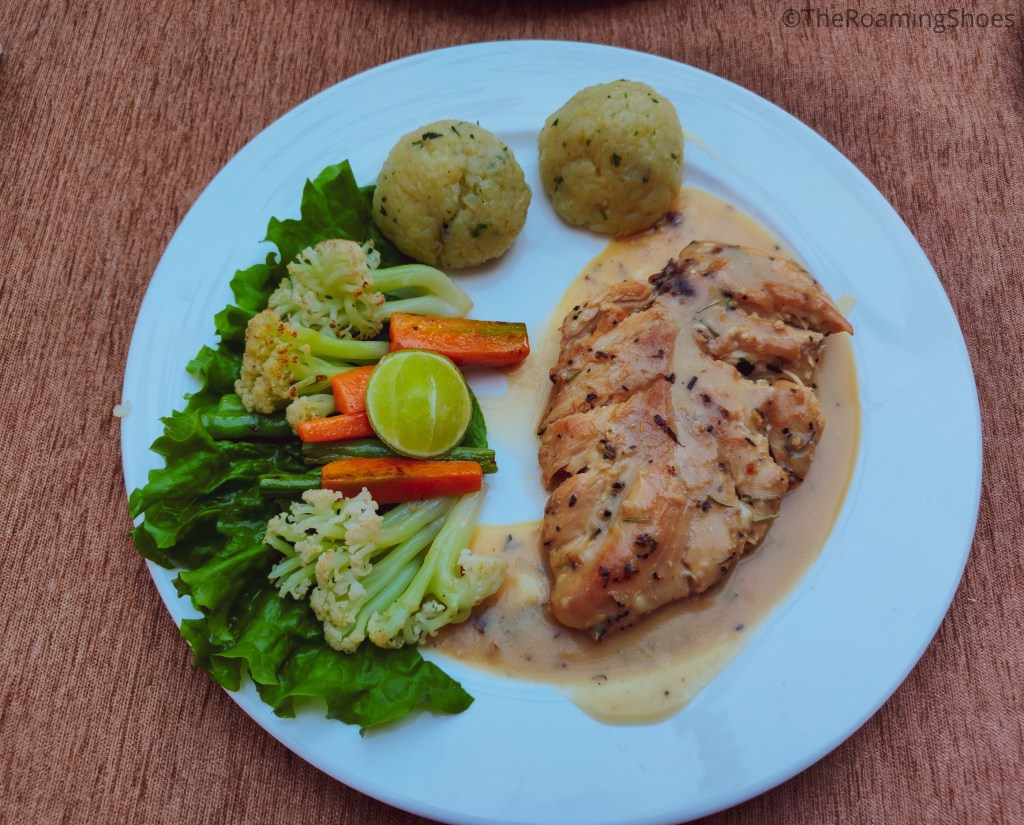 The yummy grilled chicken