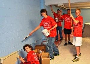 Faith Christian students helped out at numerous non-profits around town.