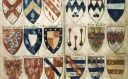 Detail from Powell's Roll of arms, Bodleian Library, Oxford (Ashmole 804, pt. IV, p. 022-023)