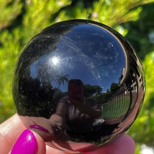 buy black obsidian sphere from Mexico