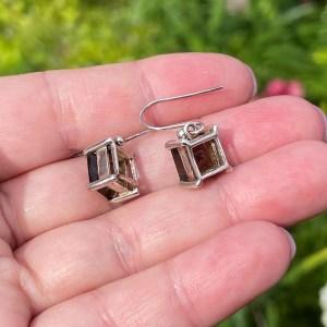 Smoky Quartz 925 Silver Earrings