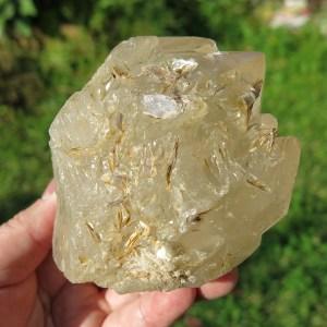 citrine elestial cluster from Brazil