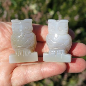 Agate animals as Owls