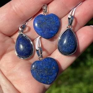 buy Lapis Lazuli Pendants in Tear drop and Heart shapes in Sydney Australia