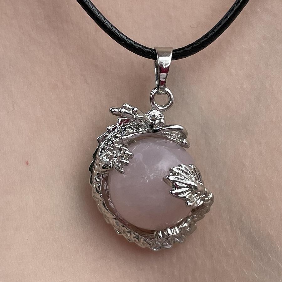 CJ150-rose quartz dragon