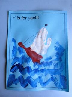 letter Y craft for preschool