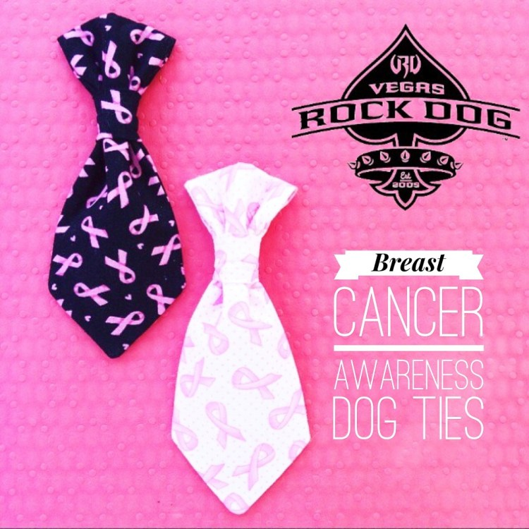 Breast Cancer Awareness Month Dog Ties Vegas Rock Dog