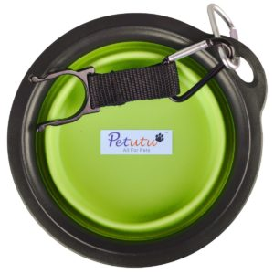 Collapsable pet bowls for travel