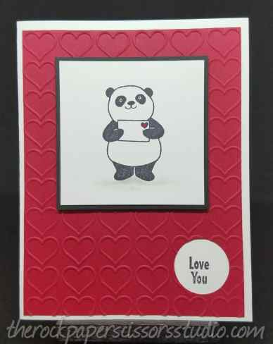 Party Pandas Valentine Card
